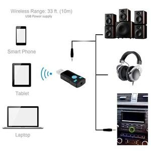 3in1 Car/Home Hands free USB Bluetooth Receiver Adapter With AUX and Micro SD Input