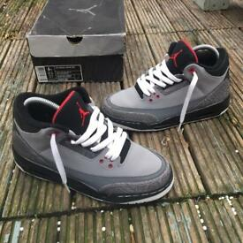 Nike air Jordan 3 stealth trainers size 5.5