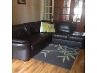 5 seater corner sofa Italian leather