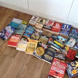 Bundle of James Patterson books (hardbook/paper book)