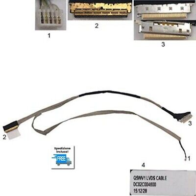 CAVO FLAT ACER ASPIRE V3-571G Q5WV1 CABLE LED DISPLAY P/N: DC02C004600 30...