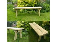 Super chunky garden bench