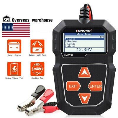 12V Battery Tester Car Digital 100-2000CCA Cranking Charging System Test Tool