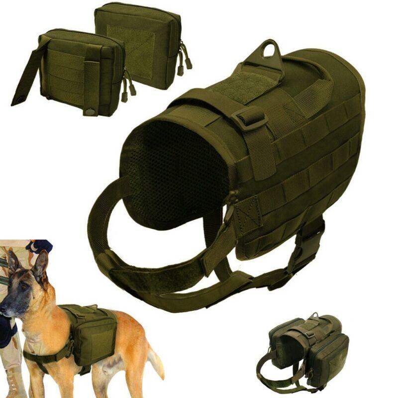 Dog Backpack Waterproof Saddlebag Vest Harness Hound Hiking