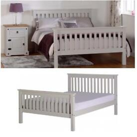 Grey 4'6 Bed frame - Brand New