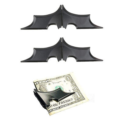 Geld Clip Card Wallet (2x Slim Bat Form Mens Fashion Money Clip Geldbörse Wallet Card Cash Holder)