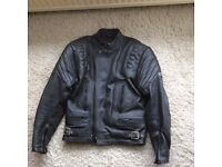 Mens 2 piece leather motorbike suit