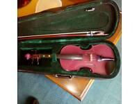 Purple 1/2 size violin new