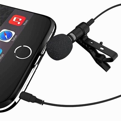 External Clip-on Lapel Lavalier Microphone For iPhone SmartPhone Recording US