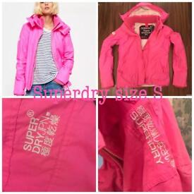 Ladies Superdry jacket pink