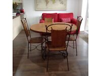 Rustic look Table and 4 chairs