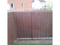 PVC Brown fencing/screening