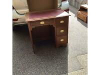 Very Sweet Writing Desk/Work Station With Red Leather Top.