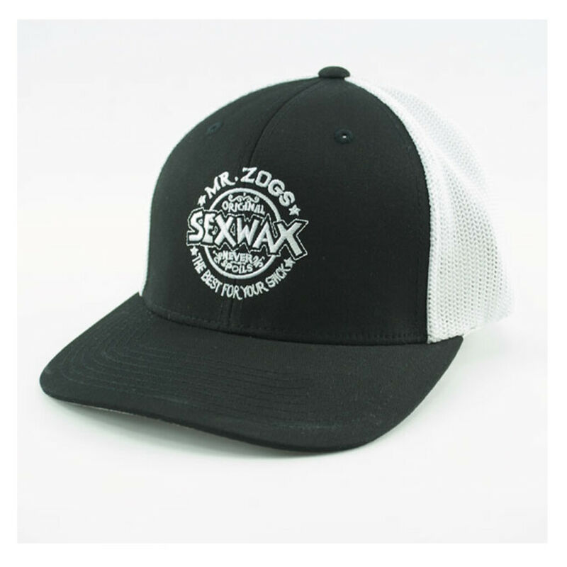 "Sex Wax Mr Zogs Surf Hat Mesh Trucker Black/White LG-XL (7 1/4"" - 7 5/8"")"