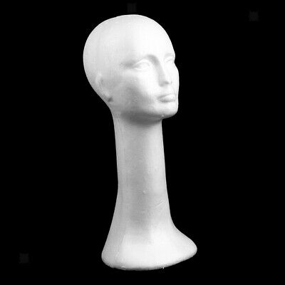Long Neck Female Foam Head Model Hair Wig Mannequin Hat Styrofoam White
