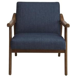 Blue Wooden Accent Chair Sale-WO 7728 (BD-2562)
