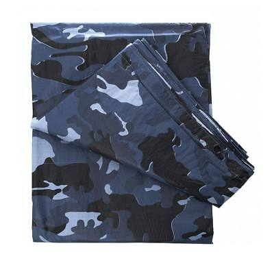 Suelo rafia 6x3,5 m camuflaje oscuro azul lona plástica impermeable camping