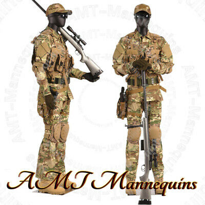 Male Full Body Mannequins Flexible Articulated Arms Black High End Mannequin