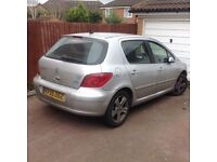 Peugeot 307 diesel six speed Quick sale 550 Ono great car may swap