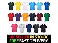 Unisex Men's Classic Plain 100% Cotton Blank Tee Shirt Tshirt T-Shirt XS-6XL Lot