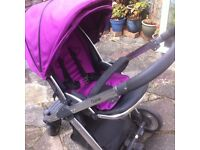 Oyster pushchair with carrycot, maxi cosi car seat adapters and buggy board
