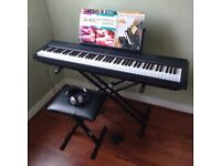 Yamaha P-115 Digital Piano Black Inc Stand, Headphones and Bench
