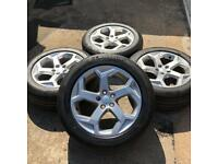 GENUINE RANGE ROVER LAND ROVER 20 INCH HSE ALLOY WHEELS & NEW MICHELIN 255 55 20 TYRES 5x120 4x4