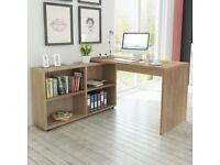Corner Desk 4 Shelves Oak-243059