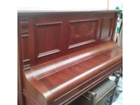 Victorian Upright Piano. Maker - Schiller of Berlin. Excellent Condition