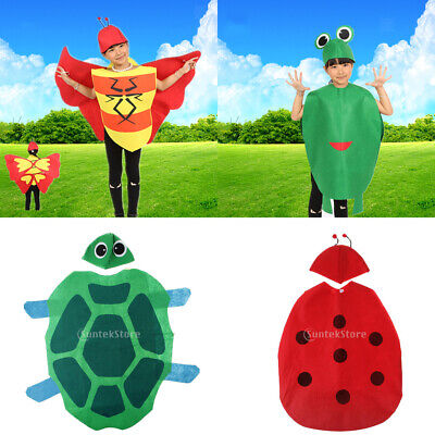 Boys Girls Insects Vegetation Costume Outfit Hat Forest Animal Party Fancy Dress - Woodland Animal Costumes