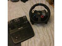 Logitech G29 Steering wheel & Pedals