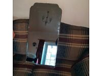 Vintage mirror with bevelling and heavy backing board