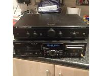 Sharp md cd player deck/Cambridge amp
