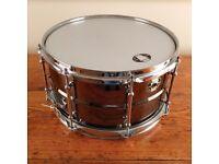 ludwig black magic 13x7 black over brass drum new