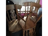 Dining chairs American oak