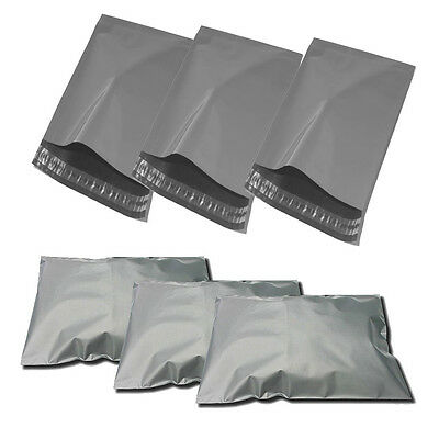 50 425mm x 600mm Strong Grey Mailing Packaging Plastic Bags Large Size 17