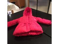 Girls M&S pink coat 12-18 months £5