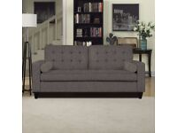 "AMAZING PRICE ""GREY LINEN"" SOFA BED AND DIFFERENT COLOURS ""NOW £299!!"" IT WAS £499"