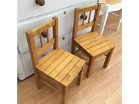 2 x children chairs