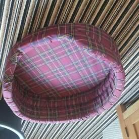 brand new red tartan medium dog bed