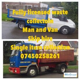 Man and van waste collection