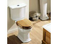 New Imperial Westminster Close Coupled Pan & Cistern with Oak Soft Close Seat