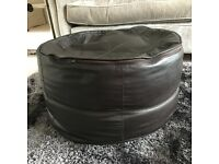 Leather Foot Pouffe