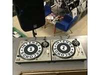 TECHNICS SL 1200mk2 PROFESSIONAL DJ TURNTABLES PAIR - SILVER - USED - DECKS - EXCELLENT CONDITION