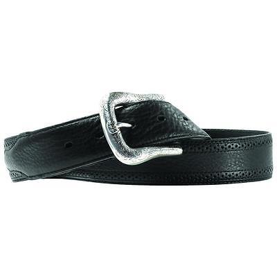 Ariat Western Mens Belt Leather Work Perforated Black A10004353 Ariat Mens Work Belt