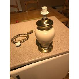 Table lamp, excellent, classy, cream / brushed gold