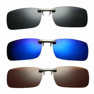 3Pcs Flip Up Clip auf Sonnenbrillen polarisierte Linse UV400 Brillen für DE Neu