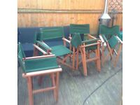Set of Six Fold away Canvas Directors chairs.