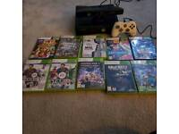 Xbox 360 with Kinect and 10 games