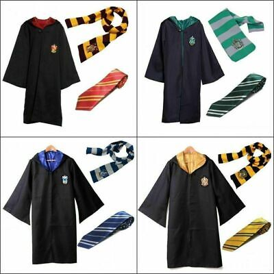DE Erwachsene Kinder Harry Potter Hogwarts Mantel Robe Cosplay Kostüm Outfit Hot